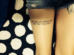 """Excuse us while we sing to the sky."" Screen twenty one pilots. Love my tattoo"