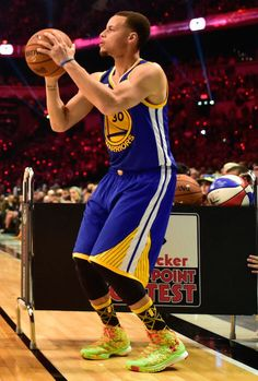 Stephen Curry during Three Point Contest.....