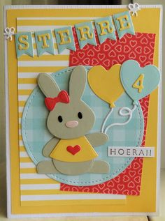 I hope everyone had a lovely Easter Weekend. Baby Bunnies, Bunny, Marianne Design Cards, Oreo Pops, Kids Birthday Cards, Easter Weekend, Bake Sale, Diy Garden Decor, Kids Cards