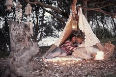 This shoot styled by The LANE Event Styling tells the story of a bohemian romance & private commitment ceremony held by the sea on a secluded beach. Boho Chic, Bohemian Beach, Bohemian Soul, Boho Style, Cabana, Delphine Manivet, Love Story Wedding, Dream Wedding, Romantic Picnics