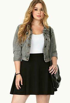 27 Plus Size Skirts Inspiring Ideas. Womens Plus size dress, clothes. Plus size outfit cute patterns inspiration. Womens plus size fashion. Chubby Fashion, Girl Fashion, Fashion Outfits, Fashion Trends, Fashion Ideas, Womens Fashion, Fashion 2018, Fashion Bloggers, Fashion Boots
