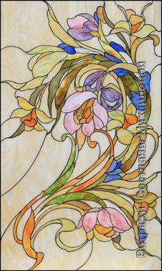Витраж flora_057