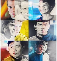 Star Trek original and new cast, must admit that I really do love the new cast. :)