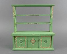 Old Tynietoy Hand Painted China Cabinet Hutch 1:12 Scale