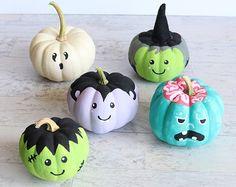 Quick Halloween Crafts, Pumpkin Halloween Costume, Diy Halloween Decorations, Holidays Halloween, Halloween Pumpkins, Diy Craft Projects, Pumpkin Painting Party, Pumpkin Crafts, Pumpkin Ideas