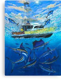 'Bar South ' Canvas Print by Carey Chen Marlin Azul, Blue Marlin, Sport Fishing, Fishing Games, Tuna Fishing, Fishing Box, Fishing Guide, Salmon Fishing, Bass Fishing