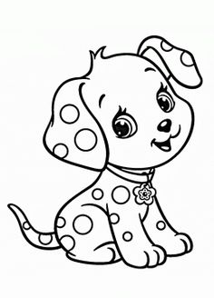 cartoon puppy coloring page for kids animal coloring pages printables free - Coloring Books Printable