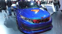The Justice League Kia's. Click for the Slide show of the other Justice League Vehicles! The 2013 New York International Auto Show brought the shiniest new car models to the Big Apple this week, but none are as much fun as the Justice League-inspired vehicles from Kia Motors.