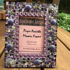 Mosaic Frame - Purple Frame - Photo Frame - Violet Frame -Purple Mosaic Frame by…