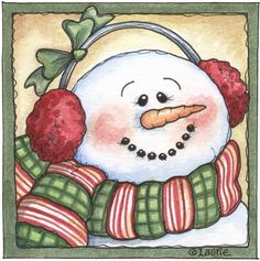 red and green snowman