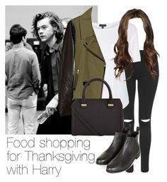 """""""Good shopping for Thanksgiving with Harry"""" by style-with-one-direction ❤ liked on Polyvore featuring Topshop, Mackage, Victoria Beckham, OneDirection, harrystyles, 1d and harry styles one direction 1d"""