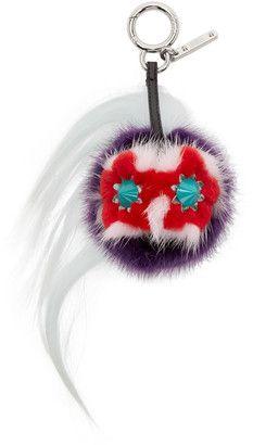 Shop Now - >  https://api.shopstyle.com/action/apiVisitRetailer?id=524052321&pid=uid6996-25233114-59 Fendi Multicolor Fur-Trimmed Mini Bug Keychain  ...