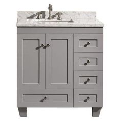 Eviva Acclaim 30 in. Single Bathroom Vanity Set - EVVN69-30GR
