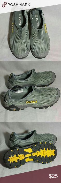 Women's OUTEIS Hiking Slip-on Shoes Gray 8.5 M NYLON item is in a good condition NO PETS AND SMOKE FREE HOME. OUTEIS Shoes Athletic Shoes