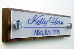 Office Door Name Plate Personalized Office by GaroSigns on Etsy