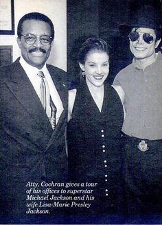 Michael Jackson, Atty. Cochran & Lisa Marie.