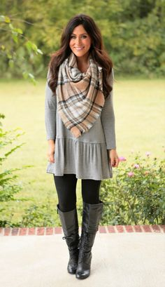 Brooklyn Ruffle Tunic (available in several colors) Warm Outfits, Summer Fashion Outfits, Casual Fall Outfits, Fall Winter Outfits, Trendy Outfits, Boho Fashion, Cute Outfits, Winter Style, Dress Outfits