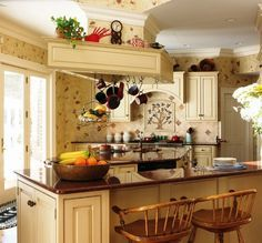 Small Kitchen Decor Themes - Choosing your kitchen design in the large number of kitchen decorating ideas that abound can be Country Kitchen Lighting, Kitchen Lighting Over Table, Country Kitchen Cabinets, Country Kitchen Designs, Country Decor, Country Style, Country Art, Kitchen Country, Kitchen Island