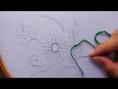 hand embroidery flower,latest elegant hand embroidery by rose world Dear Viewer, Hope you are enjoying my video. This video about: hand embroidery flower Get. Hand Embroidery Flower Designs, Basic Embroidery Stitches, Embroidery Needles, Modern Embroidery, Hand Embroidery Patterns, Embroidery Applique, Quilling 3d, Stencil Templates, Pattern Cutting