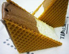 sorvete de chocolate com waffer