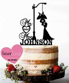 Custom made laser cut wedding and party cake toppers. Party Cakes, Laser Cutting, Cake Toppers, Place Card Holders, Wedding, Design, Shower Cakes, Valentines Day Weddings, Weddings