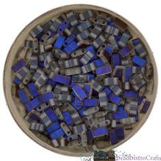 10g MIYUKI - 1/2 Tila Beads - Crystal AZURO MATTED - size 5mm x 2.3mm x 1.9mm - 2 hole - Half Tila [S-17] by BeadBistroCrafts on Etsy https://www.etsy.com/listing/530970398/10g-miyuki-12-tila-beads-crystal-azuro