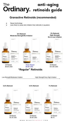 The Ordinary skincare line offers a line of retinoids of varying strength. It's important to pick the right one for your needs to get the best results. Read about how to pick the best retinoid for your anti aging skincare routine. Skin Care Routine Steps, Skin Routine, Anti Aging Tips, Anti Aging Skin Care, The Ordinary Anti Aging, The Ordinary Retinoid, The Ordinary Products, The Ordinary Skincare Routine, Best Acne Products