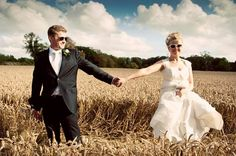 Amazing barley field - wedding pictures outside