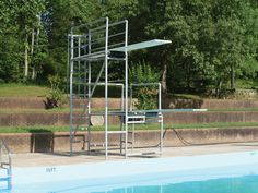 High dive boards-I remember visiting my cousins Ruthie and Liz and going to the Hartwell pool. They were so brave, but it took me awhile to muster up the courage to jump. :)