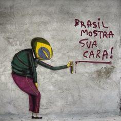 Brasil, mostra sua cara! Quero ver quem paga pra gente ficar assim |Cazuza | Os Gêmeos | Street Art | Brazil |: