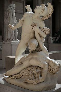 Nisus and Euryalus. Jean-Baptiste Roman. Paris, Musée du Louvre