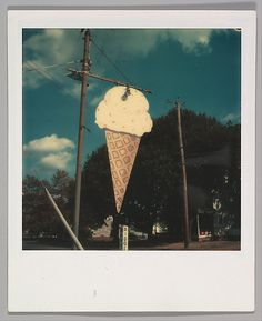 [Roadside Ice Cream Cone Sign]  Walker Evans - 1973-74.