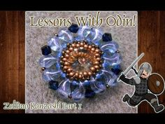 Zoliduo Bead Review and Kanzashi Beaded Pendant Jewelry Tutorial - Lessons With Odin - YouTube
