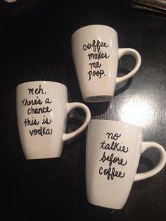 Personalized Coffee Mug, Monogram Teachers Gift, Gift Coffee mug, Custom mug on Etsy, $7.95