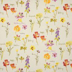 Wild Flowers Curtain Fabric