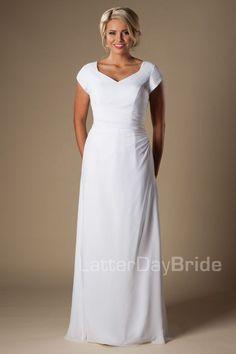 'Clovis' wedding gown, white wedding, wedding ideas, modest wedding, modest bride