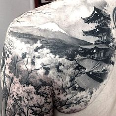 shoulder tattoo by Matteo Pasqualin, Porto Viro, Italy | buddhist tattoos