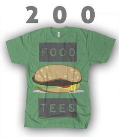 200 food t-shirts