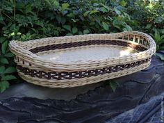 Купить Поднос овальный - бежевый, поднос плетеный, корзина плетеная, короба плетёные, для дома и дачи