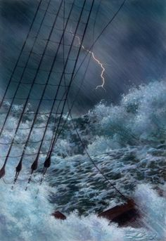 Rough waters ....not a good night to be on them, under them...near them !