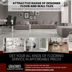 Gracious Hardwood Flooring Inc. offer floor and wall tiles for all purposes from home, kitchen and bathroom renovations to large commercial projects. Get your all kings of flooring service in affordable prices. Tiles in Brampton Discount Tile, Cheap Hardwood Floors, Bathroom Renovations, Kitchen Flooring, Wall Tiles, Tile Floor, Commercial, Furniture, Projects
