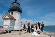Nantucket Island Wedding Photography by New England wedding photographer Brea McDonald of Brea McDonald Photography. Nantucket wedding style. Fun bridal party portrait ideas.