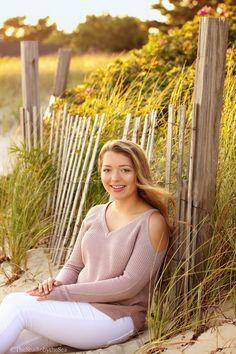 Cape Cod Senior Beach portraits. Senior girl posing. Natural light portraits. The Studio by the Sea