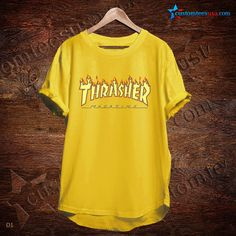 Thrasher Magazine Yellow T-Shirt   Get Tees @ customteesusa.com/product-category/quote-tshirts/