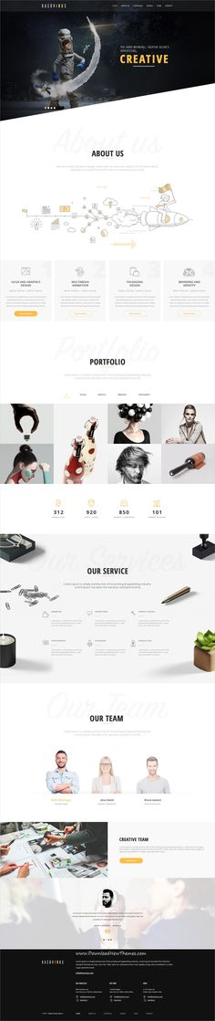 Kasovious is clean and modern design #PSD #template for creative #agency and #eCommerce website with 33 layered PSD files to live preview & download click on Visit