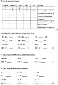Klassenarbeit zu Zahlenraum bis 1000 Math For Kids, Diy For Kids, Activities For Kids, Math Board Games, Creative Teaching, Teacher Hacks, Primary School, Kids House, Classroom Management