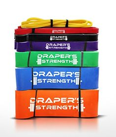 Exercise, Resistance Loop Bands - Best Pull up and Strength Bands. For Light to Heavy Training W/o Dumbbells,for Assisted Pull Ups. Perfect for Travel. Draper's Strength Best 365 Day Guarantee. (one band per order) >>> READ REVIEW @ http://www.fitnessprokingdom.com/fitness/100243/ate