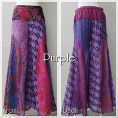 in stock now<3 Patchwork asian Pants-color Purple- #naturaleeza #online #store #hippiefashion