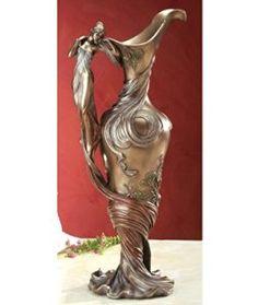 Decorative Printemps Vase - Cold Cast Resin - 14.5'' Height