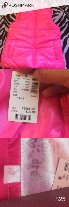 Neon Pink Justice Vest Neon pink Justice puffer vest. Brand new with tags. No trades Justice Jackets & Coats Vests